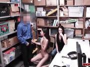 Skinny thief Victoria Vargaz punished infront of mom
