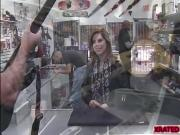 Pawn owner shows this rockstar babe how big is his cock