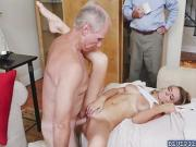 Molly Maes pussy rides on top of an old cock