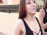 Lovely day to fuck hot beach bums in their apartment
