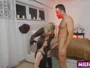 Cory Chase and Anastasia Rose horny 3way in the bedroom
