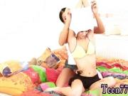 Young teen self shot Girlcompanions toying each other