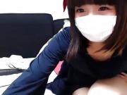 Cute Japanese Girl with a Mask on Cam - BasedCams.com