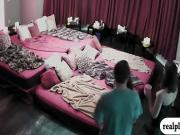 Swingers swap partners and massive orgy in the red room