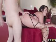Preston Parker feeds Aliie Haze his thick cock
