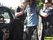 Hot busty cops banged black dude